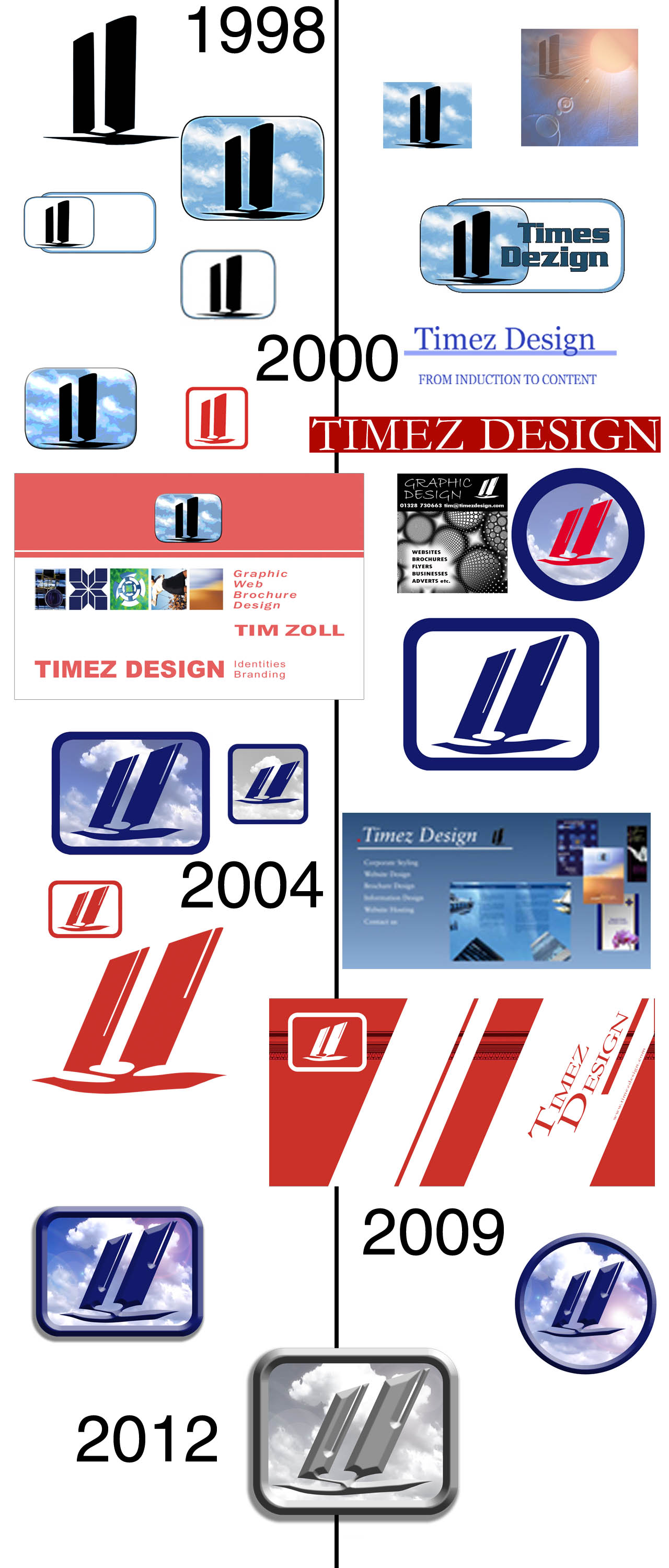 Timez Design logo timeline