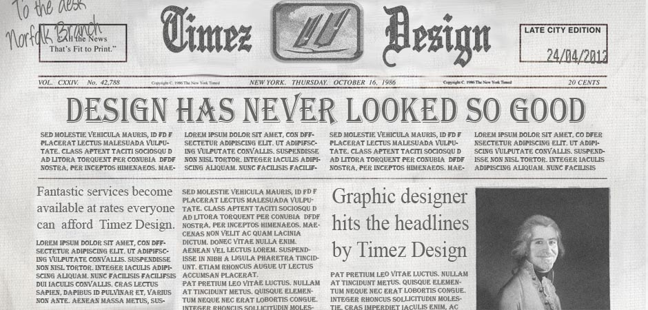 The Timez Design Newspaper