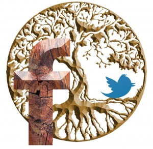 Twitter and Facebook help grow an organic network