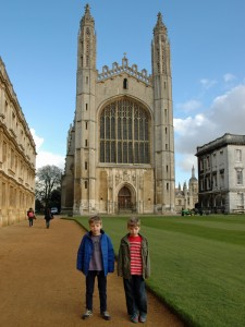 Outside King's College Chapel