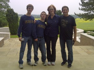 The Martin Family at The American Cemetery