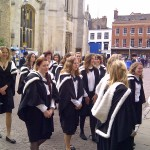 Newnham College students ready to graduate